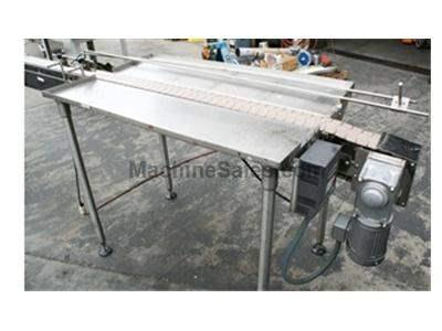 "Conveyor, 4"" x 13', stainless steel, plastic belt, variable speed drive"