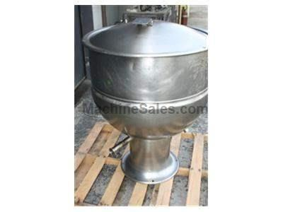 60 gallon Jacketed Kettle w/ cover, side discharge