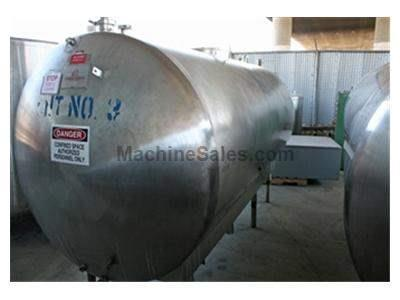 1,300 gallon s.s. Horizontal Storage Tank
