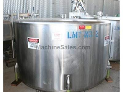 1,000 gallon s.s. Mix Tank w/ 2 hp s.s. Lafert 2 hp Mixer