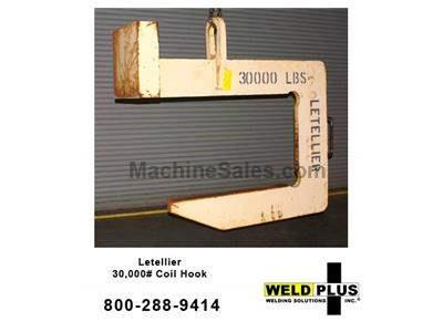 Letellier 30,000# Coil Hook. 30,000 lb. capacity Steel coil hook ME110708A
