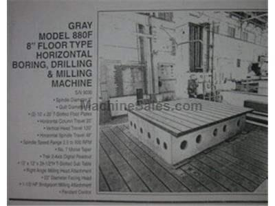 GRAY Model 880F HORIZONTAL BORING MILL