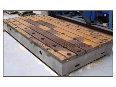 Used union cast iron t-slotted floor plate with connecting grooves