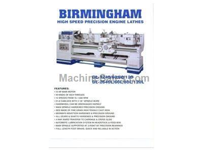 "New birmingham model dl-2680 universal heavy duty precision gap bed engine lathe with 4-1/8"" spindle hole."