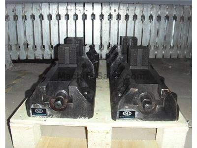 "Set of (4) 12"" x 7"" one-piece construction boring mill jaws for tables with doub"