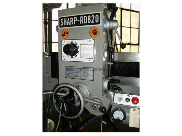 "33.5"" Arm 8.25"" Column Sharp RD-820 RADIAL DRILL, 3 HP, #4MT, Power Elevation & Clamping"