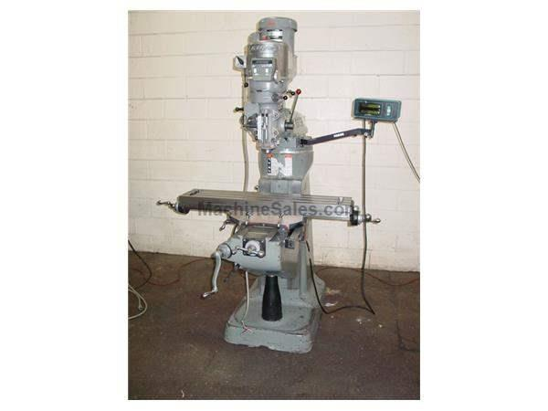 "9"" Table 42HP Spindle Bridgeport SERIES I VERTICAL MILL, Vari-Speed, Chrome, R-8, Fag"