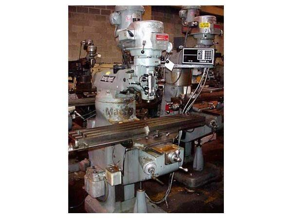"42"" Table 2HP Spindle Bridgeport Series 1 VERTICAL MILL, TRAK 2-AXIS DRO"