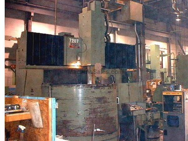 "49"" Table 52"" Swing Ikegai No. VT VERTICAL BORING MILL, FANUC 6TB CONTROL WITH CRT"