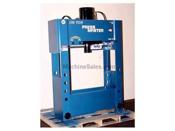 "150 Ton 16"" Stroke Pressmaster HFP-150 H-FRAME HYDRAULIC PRESS, Power Lift Table, Pressure Regulator, Flow Control"