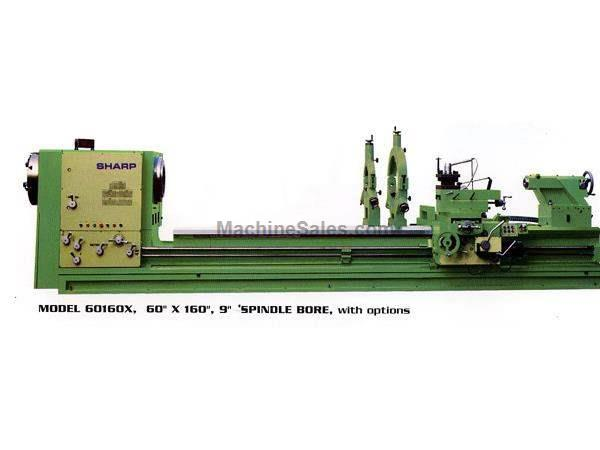 "50"" Swing 160"" Centers Sharp 50160X Heavy Pattern ENGINE LATHE, 40 HP, Spdl Bores Up to 12.5"""