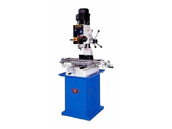 "29"" Table 1HP Spindle Rong Fu RF-40 Geared Head Mill/Drill VERTICAL MILL, 1 HP, Bench Type 110v 1ph or 220v 3 Phase"