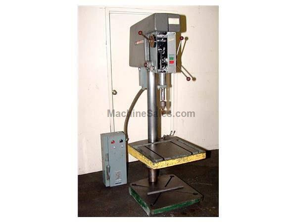 "20"" Swing 1.5HP Spindle Buffalo 200 Vari-Speed DRILL PRESS, #3MT,T-Slotted Table & Base,Vari-Speed,"