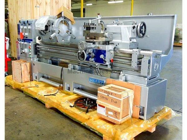 "22"" Swing 80"" Centers Sharp 2280B ENGINE LATHE, D1-8 Camlock w/ 4-1/2"" bore; 15 HP precision lathe"