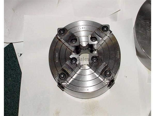6.5 4 Hardinge 4 Jaw Chuck w/Hardinge Threaded Back HARDINGE TOOLING, Hardinge Threaded Spindle Nose
