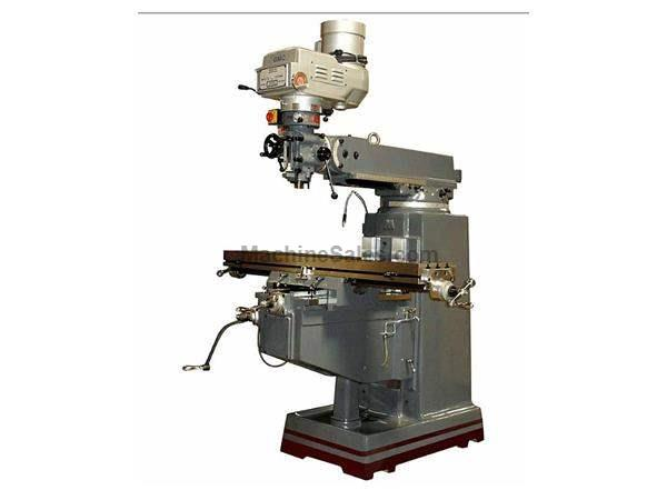 "54"" Table 3HP Spindle GMC GMM-1054VPKG VERTICAL MILL, Made In Taiwan, with OEM  DRO & Align Power Feed"