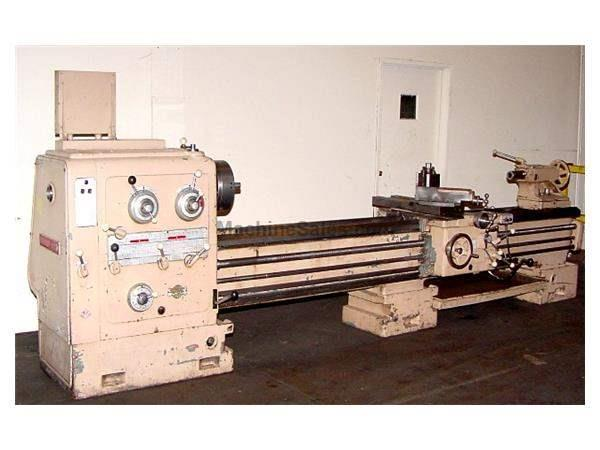 "24"" Swing 120"" Centers Pasquino ENGINE LATHE, Gap Bed, Inch/Metric, Rapid, 3-Jaw, Toolpost, 18HP"