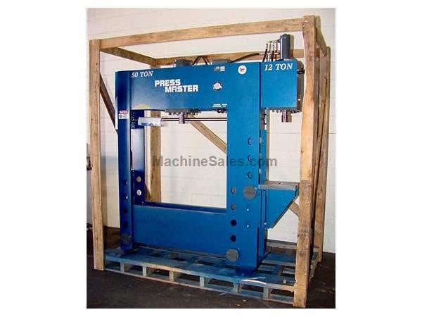 "50 Ton 12"" Stroke Pressmaster HFBP-50/12 H-FRAME HYDRAULIC PRESS, w/12 Ton C-Frame or Broaching press"