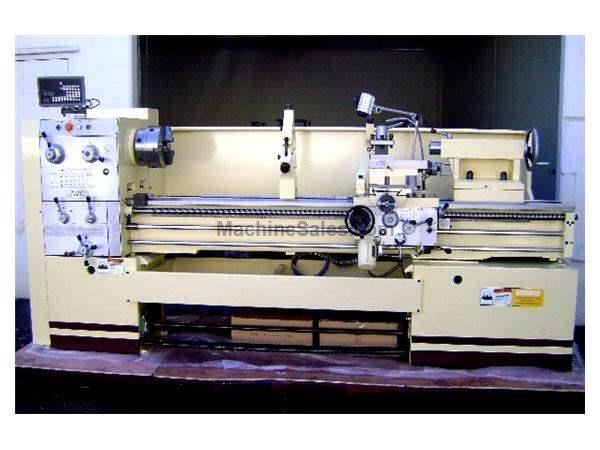 "21"" Swing 60"" Centers GMC GML-2160 ENGINE LATHE, D1-8 with 3-1/8"" bore, 15 HP, 15 spindle speeds"