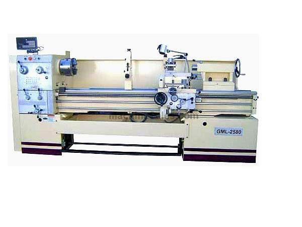 "25"" Swing 80"" Centers GMC GML-2580 ENGINE LATHE, D1-8 with 3-1/8"" bore, 15 HP, 15 spindle speeds"