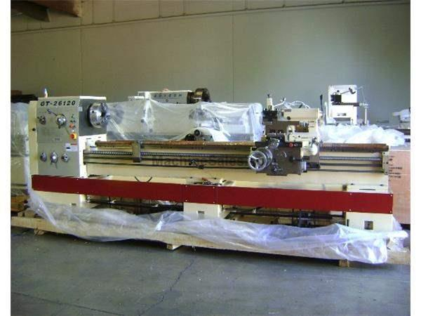 "26"" Swing 120"" Centers GMC GT-26120 ENGINE LATHE, D1-8 with 4-1/8"" bore, 15 HP, 12 spindle speeds"