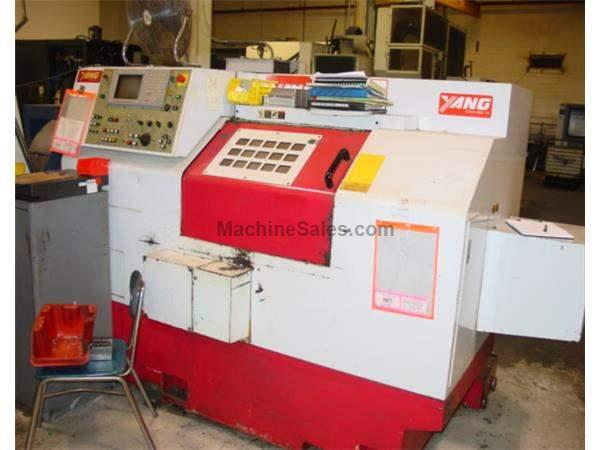 "18.9"" Swing 20"" Centers Yang SML-20 CNC LATHE, w/Full Turret of Tooling, Chip Conv."