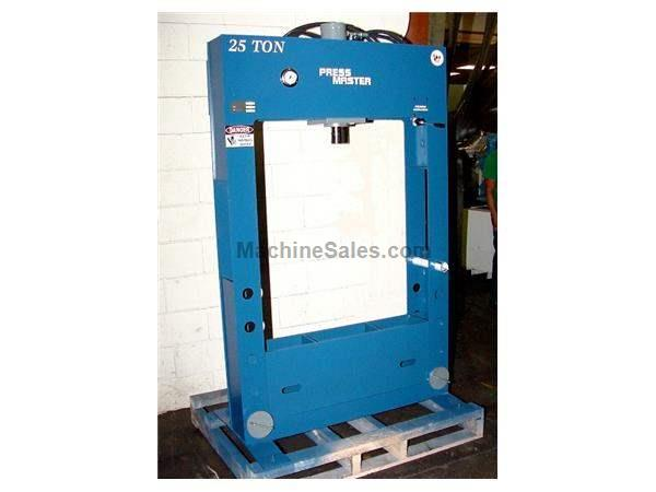 "25 Ton 12"" Stroke Pressmaster HFP-25 H-FRAME HYDRAULIC PRESS, Built-In Speed Control"