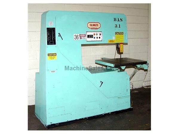 "36"" Throat 12"" Height Kalamazoo VS36 VERTICAL BAND SAW, Vari-Speed, T-Slotted Table, Air-Hyd Tbl Feed,3 HP"