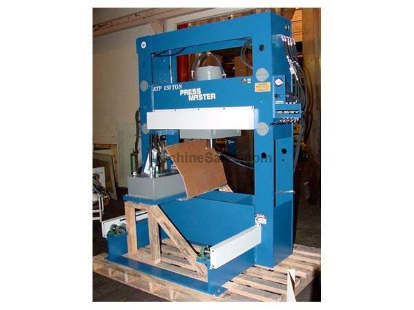 "150 Ton 16"" Stroke Pressmaster RTP-150 Roll-In Bed H-FRAME HYDRAULIC PRESS, w/4 Axis Powered Hyd Roll-In Table & Workhead"
