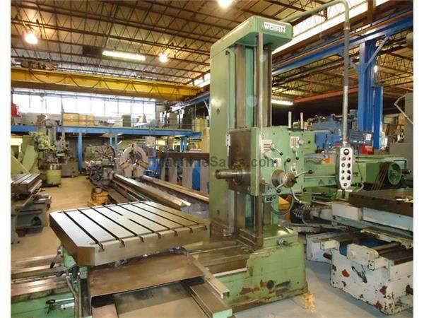 "4"" Spindle 72"" X Axis Wotan B105S HORIZONTAL BORING MILL, #50PDB, Rotary Tbl, Hardened Ways, 12.5 HP, DRO's"