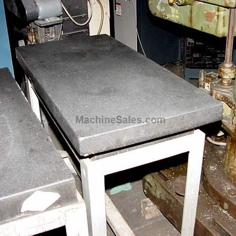 "48"" Length 24"" Width Unknown 4' X 2' BLACK GRANITE SURFACE PLATE GRANITE SURFACE PLATE, With Ledge"