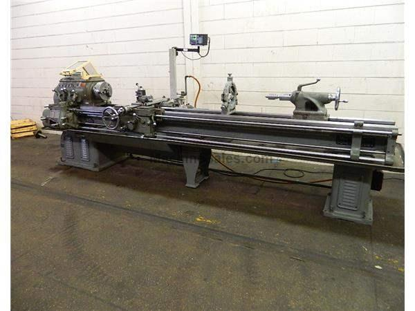 "14"" Swing 126"" Centers Monarch 14C ENGINE LATHE, Taper, 3-Jaw, Sony DRO, Steady Rest,Threads,Aloris"