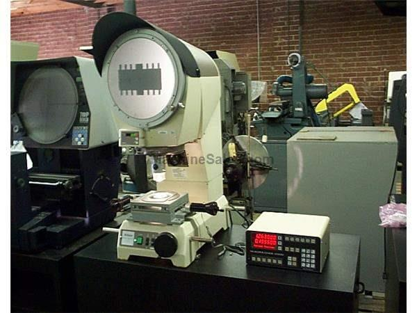 "12"" Screen Nikon V-12B OPTICAL COMPARATOR, DRO, 3-POS. LENS TURRET, EXTRAS"