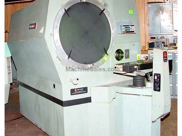 "30"" Screen Jones & Lamson EPIC -130 OPTICAL COMPARATOR, DRO, PWR. TABLE, PWR LENS TURRET, 10/20/50X LENSES"