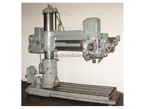 "5' Arm Lth 11"" Col Dia Carlton 1A RADIAL DRILL, #4MT, 10 HP, Power Elevatin & Clamping,"