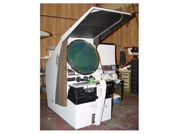 "30"" Screen Scherr-Tumico 22-2500 OPTICAL COMPARATOR, 2-Axis DRO, 8"" x 35"" TABLE,"