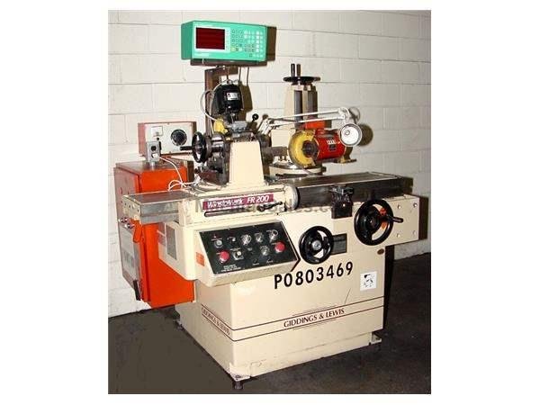 Giddings & Lewis Winslowmatic FR-200 FORM RELIEVING GRINDER TOOL & CUTTER GRINDER, 2-Ax DRO, Dual Hd, Coolant, PRECISE I.D. SPDL.