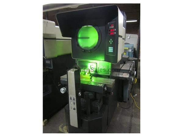 "14"" Screen 20 OGP QL-14S OPTICAL COMPARATOR, BIG TABLE, LARGER TRAVELS, DRO W/PROG. GEO FUNCT."