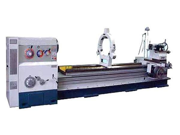 "40"" Swing 80"" Centers GMC GML-4080H ENGINE LATHE, D1-11 with 5-1/8"" bore, 20 HP; heavy duty lathe"