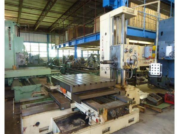 "4.25"" Spindle 55"" X Axis Sacem MST XC 110 HORIZONTAL BORING MILL, #50 PDB,Rotary Tbl,Hardways,FourWay Bed,Threading"
