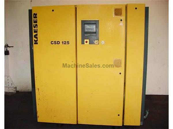 125HP Motor Kaeser CSD-125 AIR COMPRESSOR, 125 PSI, 581 CFM, Air Cooled, 460 Volt, 3 Phase