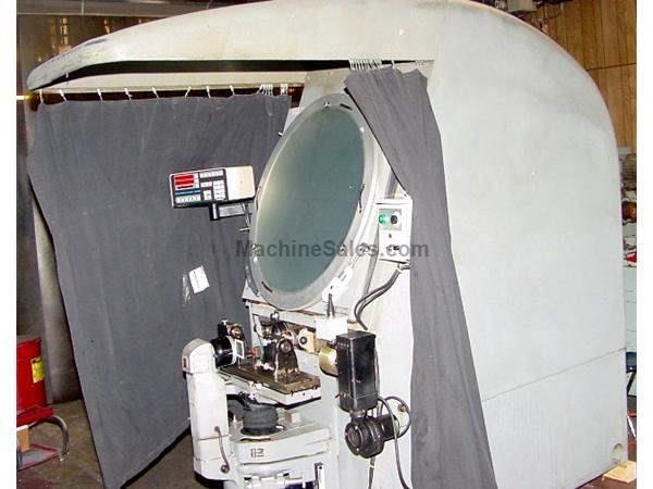 "30"" Screen Jones & Lamson FC-30 OPTICAL COMPARATOR, Quadra Check 2000 DRO, Updated Power Elev., Reflec"