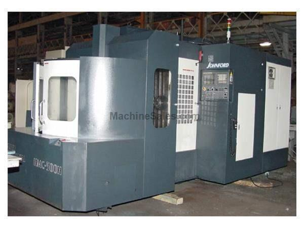 "30"" X Axis 26"" Y Axis Johnford HMC-500H HORZ MACHINING CENTER, Fanuc 18iMB 4th Axis Control"