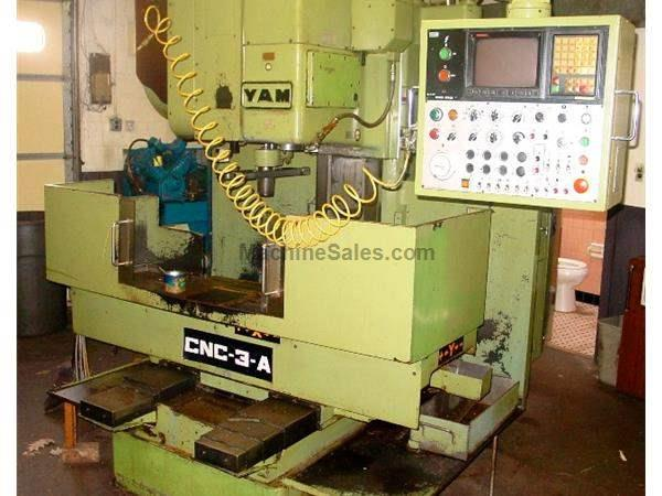"25.5"" X Axis 17.7"" Y Axis Yam CNC 3-A VERTICAL MACHINING CENTER, Fanuc OM Control"