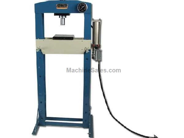 "20 Ton 7"" Stroke Baileigh HSP-20A H-FRAME HYDRAULIC PRESS, pneumatic/manual operation"