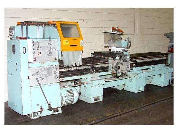 "25"" Swing 120"" Centers Toolmex TUR-63/120 ENGINE LATHE, Inch/Metric,,3-Jaw,Aloris,3-1/2""Hole,Facep"