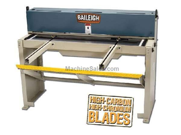 "0.0598"" Cap. 52"" Width Baileigh SF-5216 NEW SHEAR, back and side gauges; heavy duty frame"