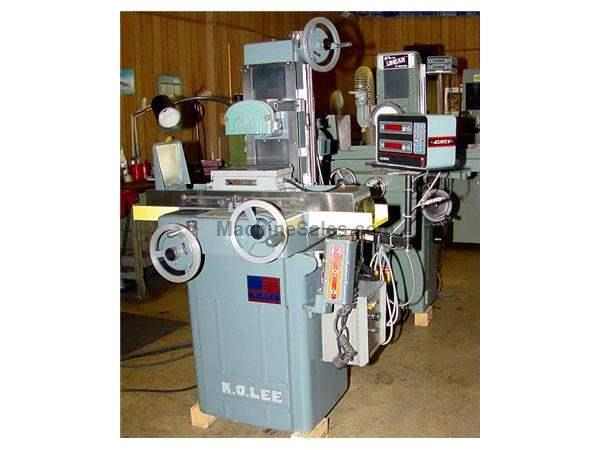 "6"" Width 12"" Length K.O. Lee S714B SURFACE GRINDER, 2X DRO, BALL BEARING TABLE, EMC, FINE FEEDS"