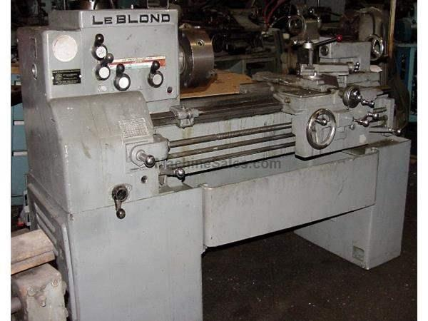 "15"" Swing 30"" Centers LeBlond Regal ENGINE LATHE, Threading, 3-Jaw, Phase II Toolpost,"