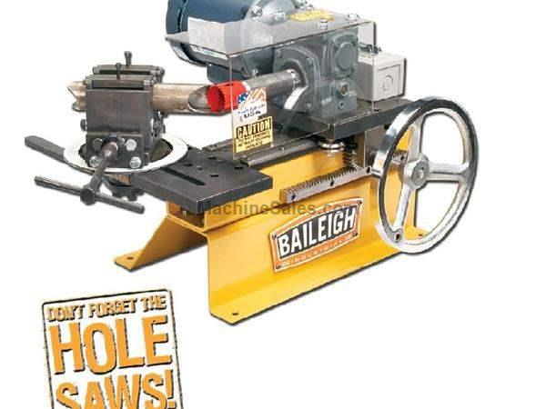 Baileigh TN-300 NEW NOTCHER, 110v Table top hole saw tube & pipe notcher